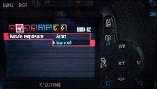 DSLR Video - Manual/Auto Menu
