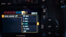 DSLR Video - Power Off Menu