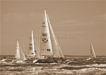 Photos of Boats - Sepia