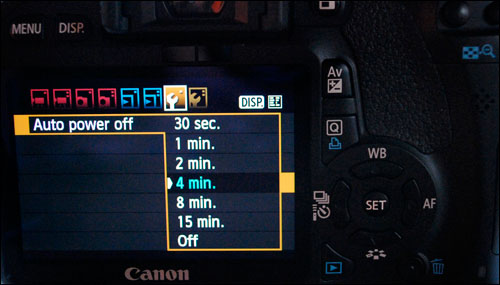 DSLR Video - Power Off Menu